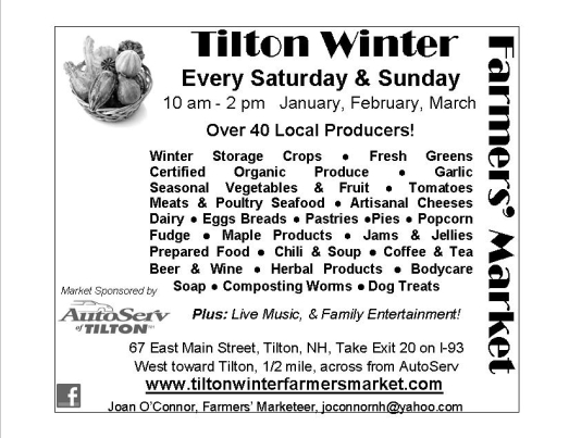 Tilton Winter Farmers' Market 2013 Flyer