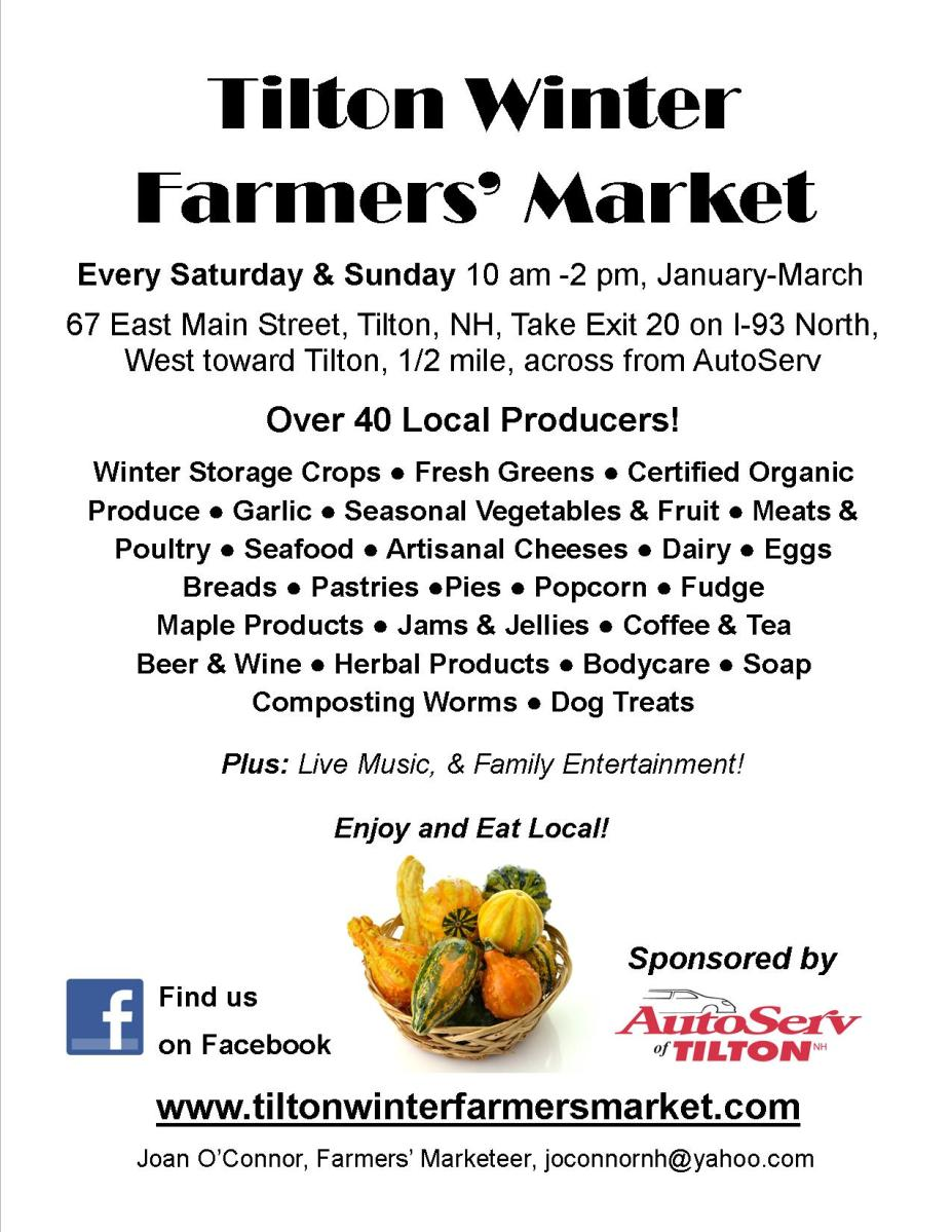 Tilton Winter Farmers' Market 2013 Poster